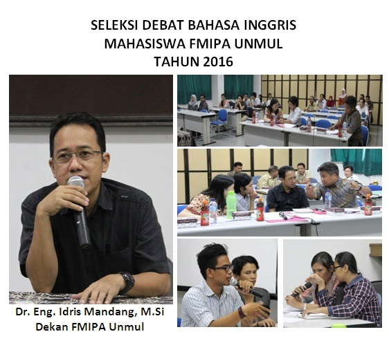 FMIPA Unmul : Seleksi Peserta Debat Bahasa Inggris Tahun 2016