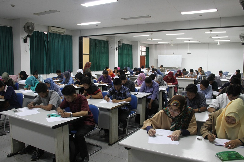 Tes TPA penerimaan calon pegawai Fakultas MIPA Unmul