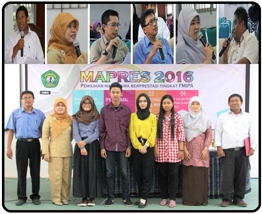 FMIPA Unmul : Seleksi Pemilihan MAPRES Tingkat Fakultas