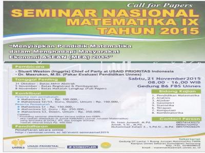 Seminar Nasional dan Permohonan Bantuan Publikasi