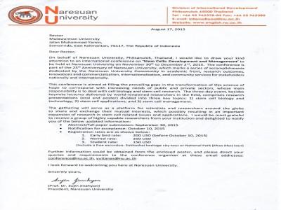 "Konferensi Internasional tentang "" Stem cell : Pengembangan & Manajemen """