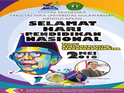 Fakultas MIPA Unmul Mengucapkan Selamat Hari Pedidikan Nasional - 2 Mei 2016