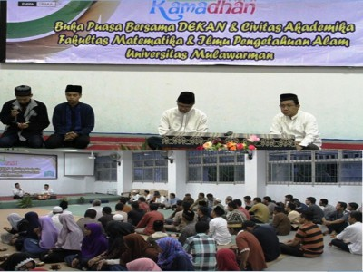Dekan dan Civitas Akademika FMIPA Unmul Buka Puasa Bersama di Bulan Ramadan 1437 H.