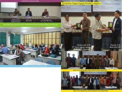 Lokakarya dan Seminar Jurusan Kimia yang di sampaikan oleh para Alumni FIMIPA