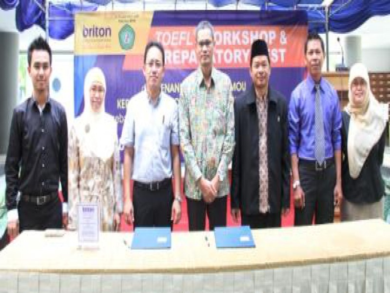 Penandatanganan MoU Fakultas MIPA Universitas Mulawarman dengan Briton International English School
