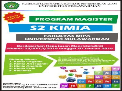 Penerimaan Mahasiswa S2 Kimia Fakultas MIPA Unmul