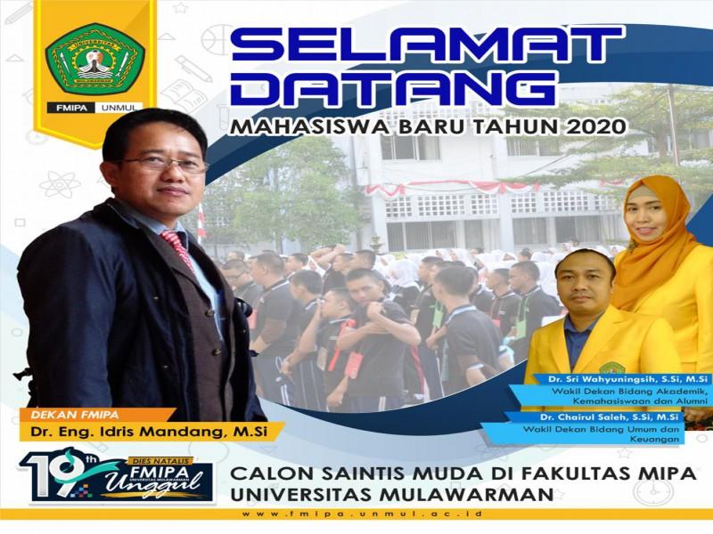 FMIPA UNMUL : SELAMAT DATANG MAHASISWA BARU 2020