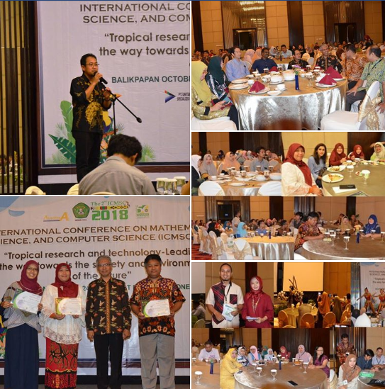FMIPA UNMUL : MELAKSANAKAN INTERNATIONAL CONFERENCE ON MATHEMATICS, SCIENCE, AND COMPUTER SCIENCE 2018