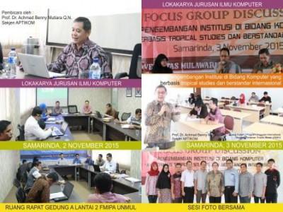 Lokakarya dan Seminar Jurusan Ilmu Komputer yang di sampaikan Oleh : Prof. Dr. Achmad Benny Mutiara Q.N. (Sekjen APTIKOM)