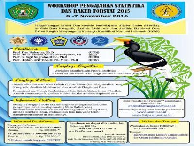 WORKSHOP PENGAJARAN STATISTIKA DAN RAKER FORSTAT 2015