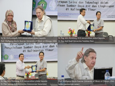 Acara Kegiatan Workshop : Penerapan Sains dan Teknologi dalam Pengelolaan sumber daya air dan lingkungan di Kalimantan.