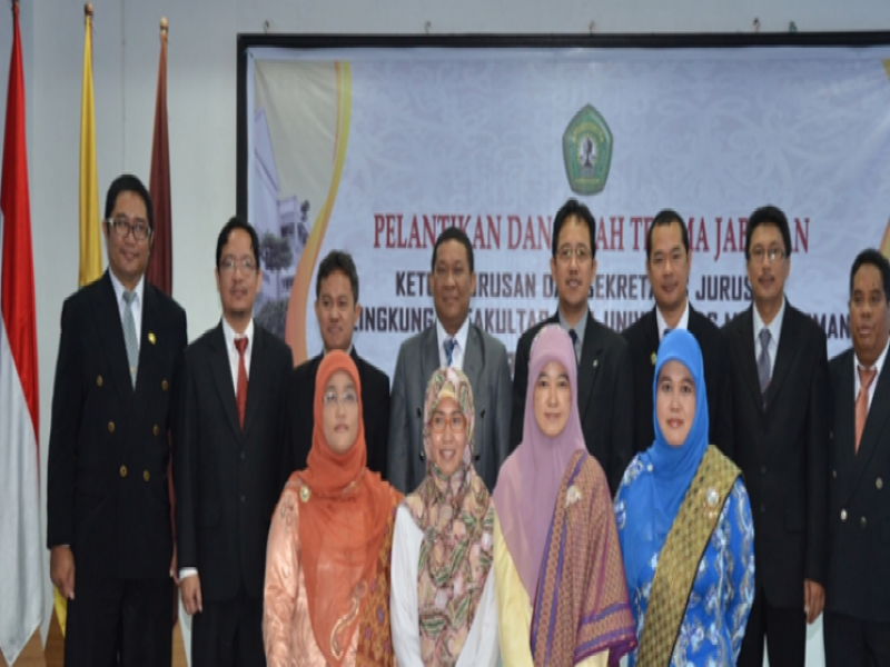 Pelantikan Ketua Jurusan dan Sekretaris Jurusan FMIPA Unmul